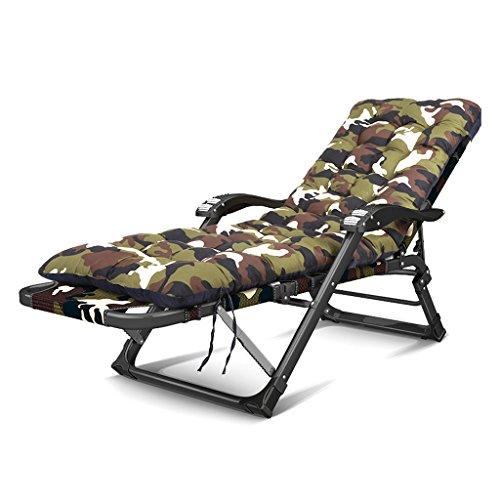 BLWX - Chaise longue pliante paresseux bureau à domicile pause déjeuner multifonctionnel sieste lit heureux plage seule chaise Chaise pliante (Couleur : C)