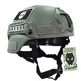 Atairsoft mich 2000Combat casco protettivo con sponda & Nvg Mount Foliage Green FG per a...
