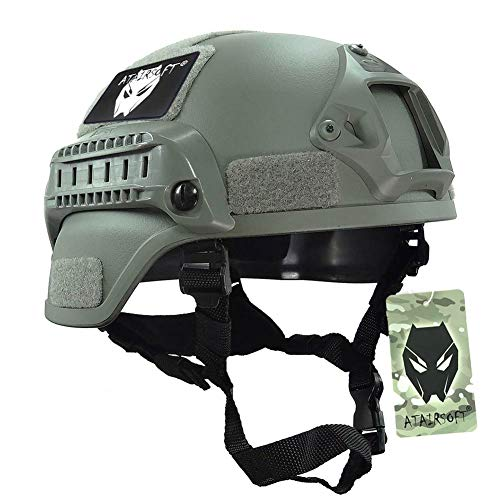MICH 2000 combate casco protector con carril lateral y montaje NVG follaje...