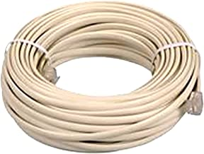 OEM 25 feet Ivory Phone Telephone Extension Cord Cable Line Wire With Standard RJ-11 Plugs Jacks