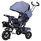 L-SLWI Cochecito de bebé, Bicicletas bebé, Triciclo para niños, Bicicletas Plegables reclinables para niños, Adecuado para bebés de 1-6 años,B