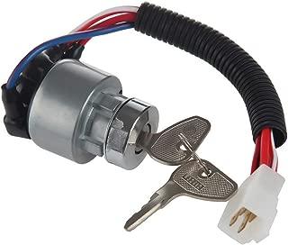 MIDIYA TC020-31820 Kubota Ignition Starter Switch With 3 Position 5 connection termials 2 Keys for Kubota Tractor,B2150,M6800,M4900,BX2200,B1700E,13750,KX91-3,14150,13010, L2800F,L4400F,MX5000F