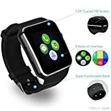Welltech Bluetooth Certified Smart Wrist Watch All 2G, 3G,4G Phone, X6 Phone with Camera & SIM Card App Support and Activity Tracker for Smartphones (Black)