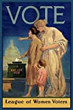 Vote Ballot Box League of Women Voters United States USA 12' X 16' Image Size Vintage Poster Reproduction, SHIPPED ROLLED