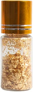 VGSEBA 24K Edible Gold Flakes, 50mg Real Gold Leaf Flakes for Food Decoration, Skin Care, Nails DIY, Arts and Crafts