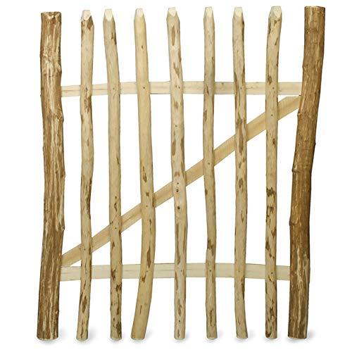 Weidenprofi Staketentor, Gartentüre aus Haselnussholz (BxH) 100 x 90 cm