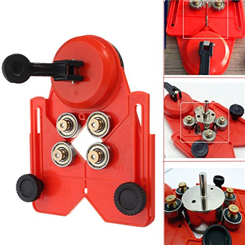 Adjustable 4-83mm Diamond Opening Locator Drill Bit Tile Glass Hole Saw Core Bit with Vacuum Base Sucker