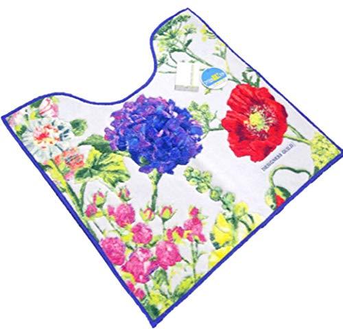デザイナーズギルド シックな雰囲気ボタニカル花柄アレキサンドリア トイレマット パープル