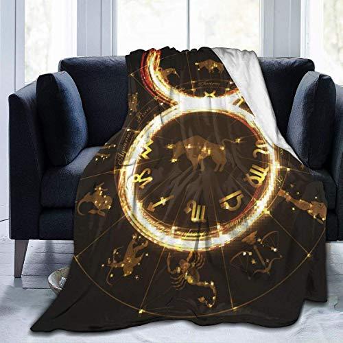 Annays Fleecedecke Taurus Constellation Throw Blanket Lightweight 102X127Cm Bed Warm Super Soft Fleece Blanket Cozy for...
