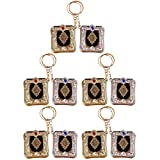 VOSAREA 10pcs Mini Ark Quran Book Key Chain Vintage Religious Keyrings Islamic Pendant Muslim Bag Purse Car Decor(Random Color)