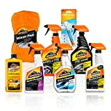 large set of armor all cleaning products in orange and black bottles