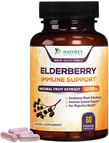 Elderberry Capsules 1200mg Super Concentrated Sambucus Extract...
