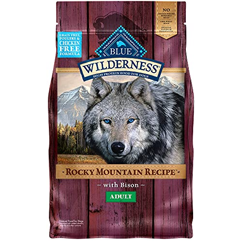 Blue Buffalo Wilderness Rocky Mountain Recipe High Protein, Natural Adult Dry Dog Food, Bison 4-lb