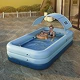 N\C Haushalt Aufblasbare Verdickung Baby Erwachsene Familie Planschbecken Familienpool Flacher Pool Garten Familienpool Schwimmbad Sommerwasserparty Einfaches Set