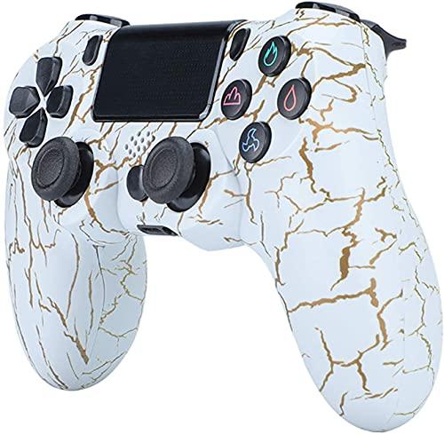Controller per PS4, Controller Wireless per Playstation 4/PRO/Slim, Controller USB per PC, Controller di Gioco Wireless con Doppio Shock, Sei-Assi
