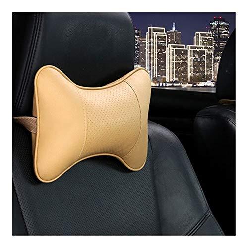 Reposacabezas Coche Tanto cuello del coche Almohada Side cuero de la PU único apoyo for la cabeza Fit for la mayoría de los coches rellenas de fibra de la almohadilla del coche universal Reposacabezas