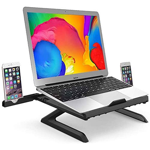 EAHKGmh Laptop Stand Adjustable Multi-Angle Laptop Riser Compatible for Laptop (10-17 inches) including MacBook Pro/Air Surface Laptop (Color : Black)