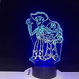 3D Symphony Lights Luces Nocturnas Muñeca Anime Woody Buss Zumbidos Juguetes De Año Nuevo Colorido A...