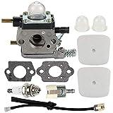 ACAMPTAR Carburetor with Air Filter Repower Kit for 2-Cycle Mantis 7222 7222E 7222M 7225 7230 7234 7240 7920...