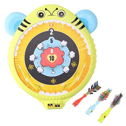 CLISPEED Kinder Dart Brettspiel Set Magnet Dart Board mit Sicherheits Darts Freizeit Dart Spiel Spielzeug für Kinder Kinder