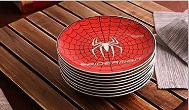 Zfxbfs Assiettes Plates 8 Pouces Cartoon Plaque de céramique Vaisselle en Porcelaine gâteau pâtisserie Plateau de Fruits D...