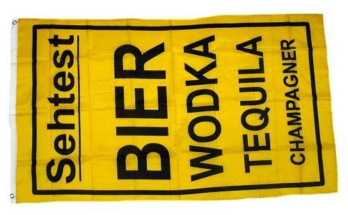 Fahne/Flagge Sehtest Bier Wodka 90 x 150 cm