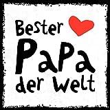 how about tee? - Bester Papa der Welt - stylischer Kühlschrank Magnet mit lustigem Spruch-Motiv - zur Dekoration oder als Geschenk
