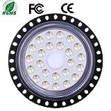 XYD 100W UFO LED Iluminación Para Talleres High Bay Light 6000K 8000LM IP65 Impermeable Ultra delgado LED Industrial Lámpara
