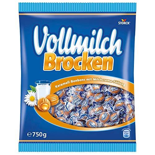 Vollmilch Brocken (1 x 750g) / Karamellbonbons mit Füllung aus Vollmilch Creme