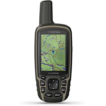 Garmin GPSMAP 64sx, HAndheld GPS With Altimeter And Compass, Preloaded With TopoActive Maps, Black/Tan, One Size