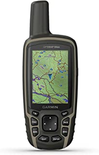 Garmin GPSMAP 64sx, Handheld GPS with Altimeter and Compass, Preloaded With TopoActive Maps, Black/Tan photo