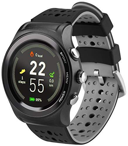 acme SW301 Smartwatch mit Aktives GPS, Messung der Herzfrequenz, Messung der Umgebungsdaten, Wasserresistenz, Multi Sport-Funktion, Schrittzähler, Schlafüberwachung