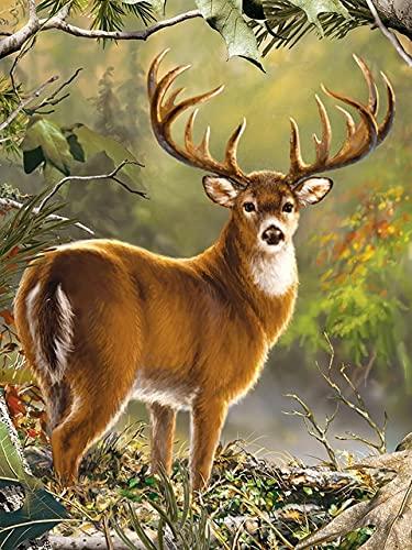 Kit de punto de cruz de oso bordado de diamantes pintura de ciervo 5D DIY mosaico de animales imagen de diamantes de imitación decoración del hogar A2 45x60cm