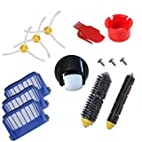 ANBOO Filters & Brushes& Front Caster Wheel Accessory Kit for iRobot Roomba 600 Series 620 630 650 660 680 Vacuum Cleaner Replacement