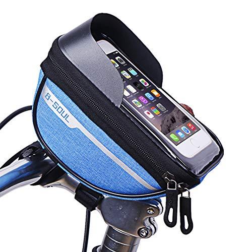 Bolsa Bicicleta MontañA Bolsa Bicicleta Accesorios para Bicicletas Soporte de teléfono de Bicicleta Impermeable Bicicleta de Montaña de Accesorios