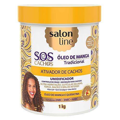 Ativador de Cachos S.O.S Cachos Óleo de Manga Salon Line 1kg, Salon Line