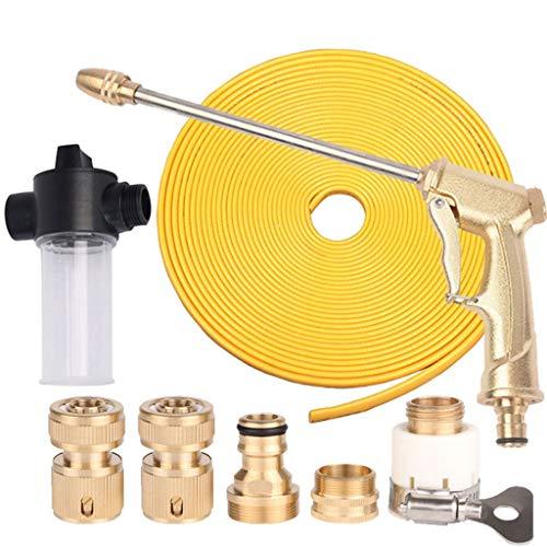 WXFQX Tuyau d'arrosage, robuste flexible tuyau d'arrosage avec l'eau Pistolet de pulvérisation et connecteurs, Édition Intégrale No-Kink HOSEPIPE, rangement facile for le lavage/arrosage/Nettoyage