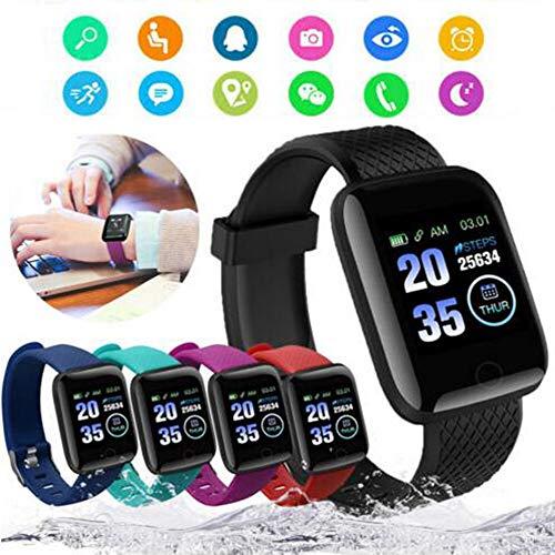 Generic Eariy - Reloj inteligente con monitorización del sueño, pulsera impermeable para hombre y mujer, reloj deportivo para deporte y fitness