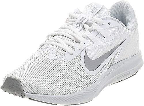 Tênis feminino Nike Downshifter 9, White/Wolf Grey-pure Platinum, 8