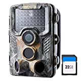 Crenova 20MP 1080P HD Wildlife Hunting Trail Camera Include 32GB SD Card 47