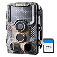 20MP Images, 1080P HD Videos: The trial camera records every moment of vivid wildlife & spectacular nature with rich details. Great Night Vision: 47-Piece 940nm IR LEDs & auto IR filter give excellent night performance, creating clear and sharp pictu...