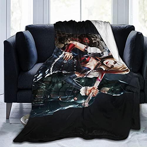 Harley-Quinn Baseballschläger-Decke, ultraweiche Micro-Fleece-Decke, weich und warm, digital bedruckt, Flanelldecke, Weihnachten, Geburtstag, Geschenk, 203 x 152 cm