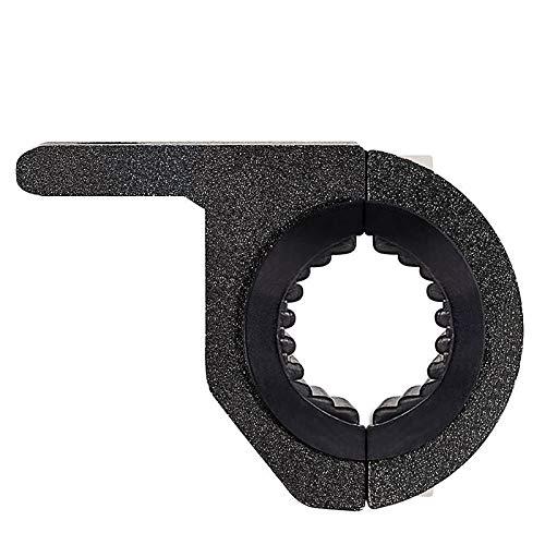 Morsetto Supporto Staffa Roll Bar Universale in Alluminio per Bici Moto Fuoristrada Lampada Led (diametro anello 25-35mm)