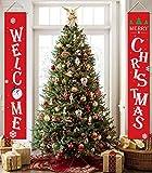 heekpek Décorations de Noël Bannière pour la Maison Intérieur Extérieur Porte D'entrée