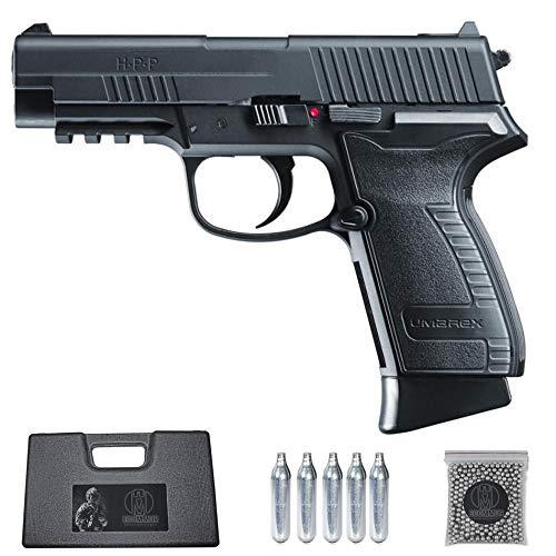 Ecommur. HPP umarex UX blowback | Pistola de perdigones (Bolas BB's de Acero) de Aire comprimido semiautomática 4,5mm + maletín + balines y CO2