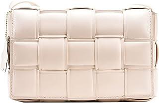 Luxury Design Weave PU Leather Shoulder Crossbody Messenger Bags Women Purse and Handbags