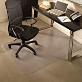 ES Robbins Everlife Carpet ChairMat Medium Pile, 60'x72' Rectangle, Clear