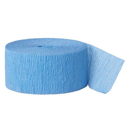 Unique Party Supplies 7943 Unique Party 6343 party decoration Tissue Paper Crepe Streamers, Papier, babyblau, 81ft