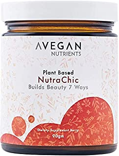 AVegan Beauty NutraChic Beauty Drink, Plant Based Proprietary Supplement for Beautiful Skin