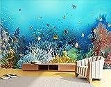 Papel Pintado 3D Acuario Del Mundo Submarino Fotomurale 3D Tv Telón De Fondo Pared Decorativos Murales